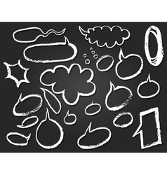 Speech bubbles doodles on notepaper vector