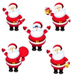 Santa claus set vector