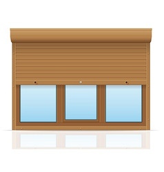 Plastic window with rolling shutters 10 vector