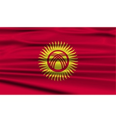 Flag of kyrgyzstan with old texture vector