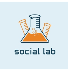 Social lab concept design template vector
