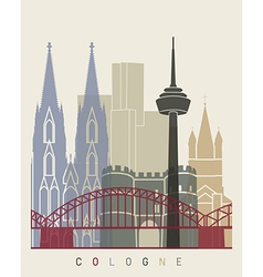 Cologne skyline poster vector