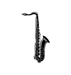 Saxophone icon black simple style vector
