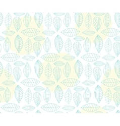 Hand drawn seamless pattern with leaf vector