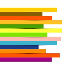 Abstract colorful paper strips background vector