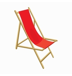 Beach chair icon cartoon style vector image