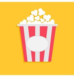 Big Popcorn with empty label tag Cinema icon flat vector image vector image