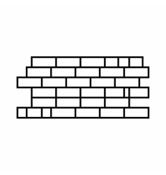 Brick wall icon outline style vector image