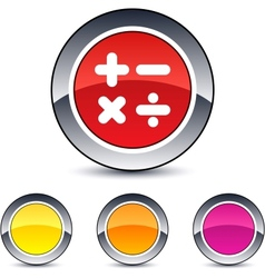 Calculate round button vector image vector image