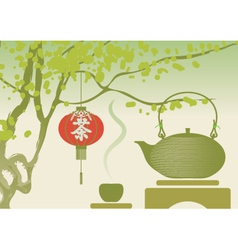 china tea vector image vector image
