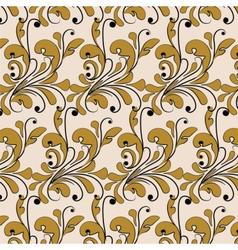 Classic style bronze ornament pattern vector