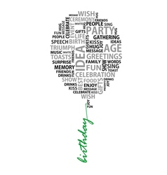 Conceptual birthday words as balloon vector image