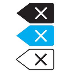 delete backspace key icon on white background vector image