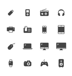 Devices Icons vector image vector image