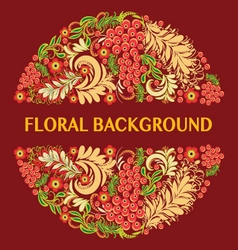 Floral background in traditional russian style vector