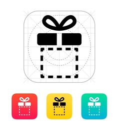 Gift box empty icons on white background vector image