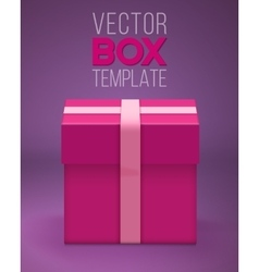 Gift Box EPS10 Realistic 3D Gift vector image vector image