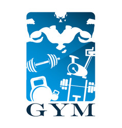 gym and fitness flat design vector image