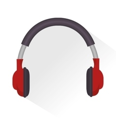Headphones sound education online icon vector