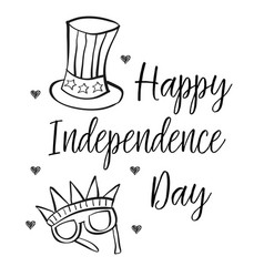 Independence day collection style hand draw vector