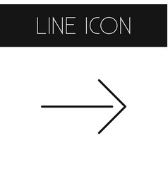 Isolated direction outline right element vector