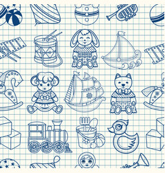 Kid toy seamless pattern vector