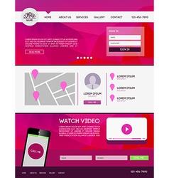 Landing page web vector image vector image