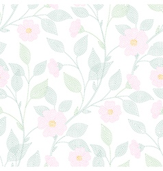 leaves needlework floral vector image
