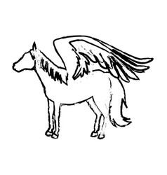 Legendary winged horse from greek mythology vector