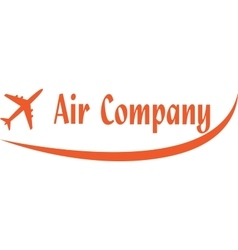 Logo of aircompany vector