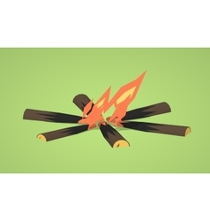 Low poly campfire vector