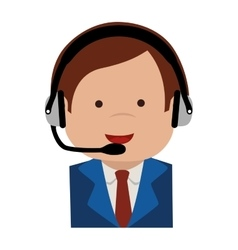 man headset support icon graphic vector image