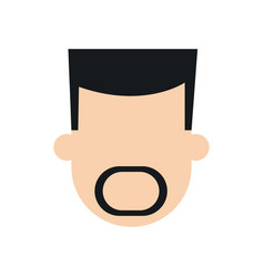 Man mustache faceless people character image vector