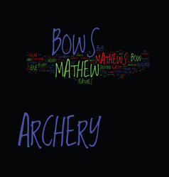 Mathews archery text background word cloud concept vector
