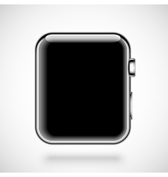 Modern shiny smart watch isolated on white vector