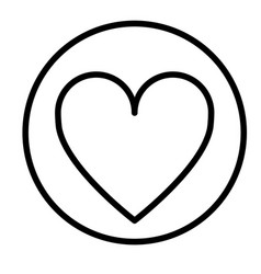 monochrome contour circular with heart icon inside vector image vector image