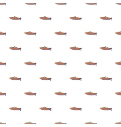 Motor boat pattern cartoon style vector