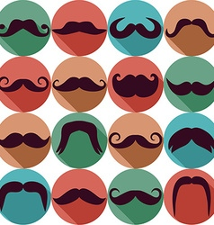 Moustaches set design elements seamless pattern vector