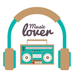 Music Lover vector image vector image