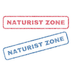 Naturist zone textile stamps vector