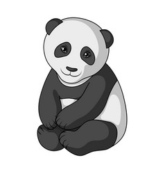 pandaanimals single icon in monochrome style vector image