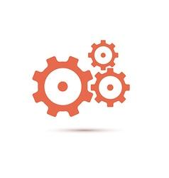 Red gearwheel mechanism in vector