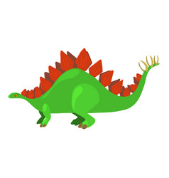 stegosaurus icon cartoon style vector image