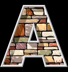 Stone letter a vector