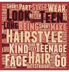 Teen Hair Styles text background wordcloud concept vector image vector image