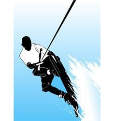 wake boarding vector image vector image