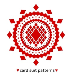 Diamond card suit pattern vector image