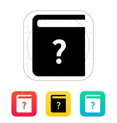 Help book icon vector