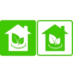 Two eco houses vector