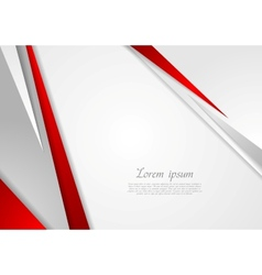 Grey and red corporate technology design vector